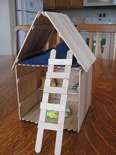 47 Crafts to Make with Skewers, Straws and Popsicle Sticks - Activities for all the kids - 47 Crafts to Make with Skewers, Straws, and Popsicle Sticks – like this Popsicle Stick House - Popsicle House, Popsicle Stick Houses, Popsicle Stick Crafts For Kids, Craft Stick Crafts, Crafts To Make, Craft Sticks, Craft Ideas, Cute Crafts, Diy Crafts