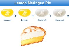 Lemon Meringue Pie Jelly Belly Flavor Recipe Best Candy, Favorite Candy, Bean Recipes, Candy Recipes, Jelly Belly Flavors, Combo Recipe, Food Plus, Lemon Coconut, Lemon Meringue Pie