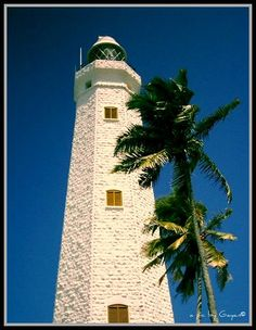 Dondra Lighthouse, The southernmost point in Sri Lanka...