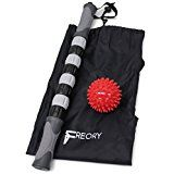 Premium Massage Stick & Ball Bundle By Freory – Relief Set For Cramps & Muscle Pain – Body Massage Roller Stick – High Density Spiky Ball To Help With Plantar Fasciitis- Suitable For Physical Therapy   • ULTIMATE SORE MUSCLE RELIEF: Use Freory's muscle roller...
