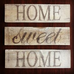 Rustic Home Sweet Home Signs by tdfleurdelis on Etsy, $20.00