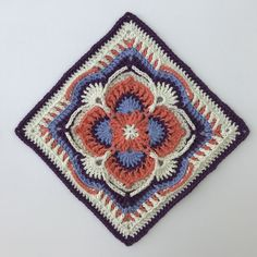 Ravelry: Olivia Grace Afghan Square pattern by Pam Knighton-Haener Crochet Squares Afghan, Crochet Blocks, Granny Square Crochet Pattern, Crochet Motif, Crochet Patterns, Filet Crochet, Olivia Grace, Crochet Fall, Paintbox Yarn