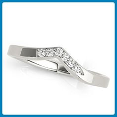 Curved Style Diamond Wedding Band - Wedding and engagement rings (*Amazon Partner-Link)