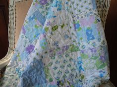 pretty blues...  upcycled sheets