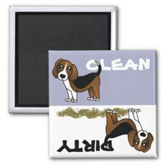 Beagle Clean/Dirty Dishwasher Magnet ~ http://www.zazzle.com/cute_beagle_clean_dirty_dishwasher_magnet-147222436130945180?rf=238295306376314296
