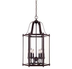 Savoy House 3-7246-6-13 entry lantern.  This inviting fixture in English Bronze with Clear Beveled glass is perfect for the entryway and welcoming guests to your address.