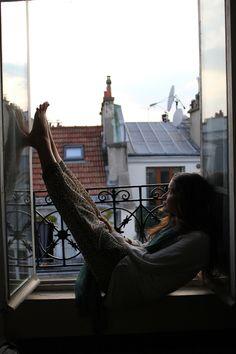 """bohemianhomes: """"Bohemian Homes: relaxing in paris """""""