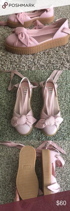 f753447b42c1f NWT pink fenty by Rihanna creeper sanders puma Bow Creeper Sandal NWT dust  pink *stock photo to show fit* Puma Shoes Flats & Loafers