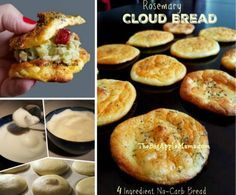 Cloud Bread Gluten Free 4 Ingredients