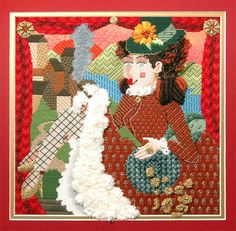 Amy's Golden Strand | Photo Gallery | Amy Bunger | Needlepoint, Melissa Shirley wild woman canvas
