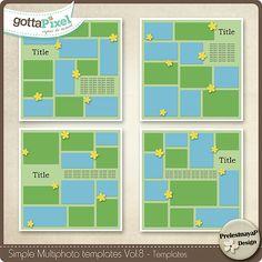 Designer Spotlight & Daily Download 7/12/16 - Gotta Pixel :: Simple Multiphoto templates Vol.8 by PrelestnayaP Designs