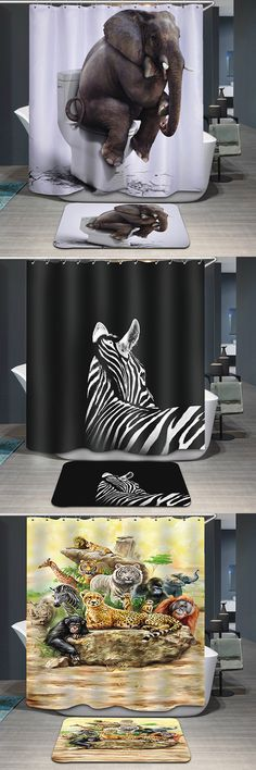 Pattern Printing Waterproof Shower Curtain