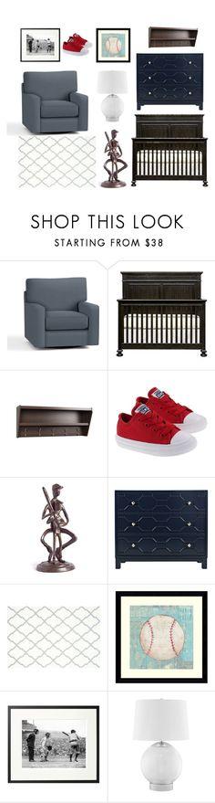 """Baby Boy Baseball Nursery"" by mkhoot on Polyvore featuring interior, interiors, interior design, home, home decor, interior decorating, Pottery Barn, Prepac, Danya B and Safavieh"