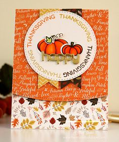 Hi and welcome, everyone! Today I'm sharing a Thanksgiving card with you featuring a few new products from Lawn Fawn and Carta Bella. PRODUCTS