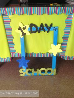 First day of school frame!