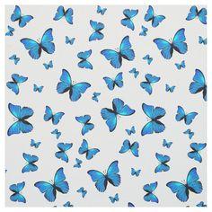 Blue butterflies Fabric