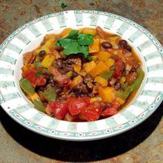Black Bean Stew: http://allrecipes.com/recipe/brazilian-black-bean-stew