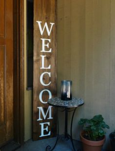 Vertical Welcome Sign  Huge Welcome Sign  by ThirtyOneProverbs