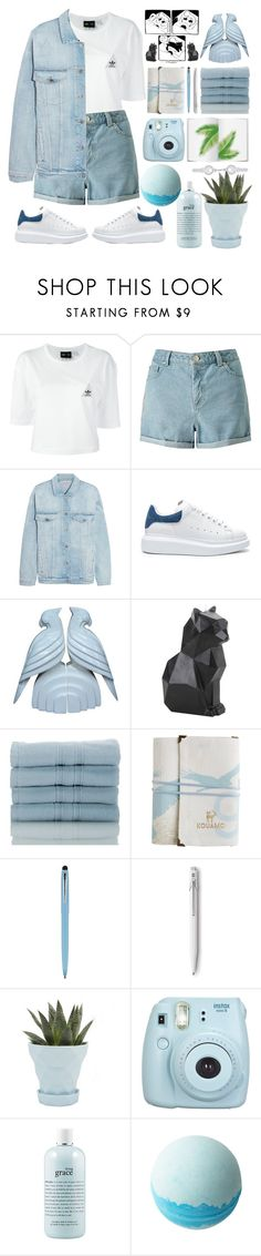 """""""Distressed denim👖💙"""" by madzena ❤ liked on Polyvore featuring adidas, Miss Selfridge, STELLA McCARTNEY, Alexander McQueen, Fitz & Floyd, Hot Topic, Nordstrom Rack, Fisher Space Pen, Chive and Fujifilm"""
