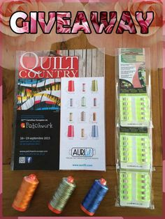 Carrefour Européen du Patchwork is hosting a yummy giveaway including #aurifil threads! For a chance to win, please visit: https://www.facebook.com/EPMQuiltShow/photos/a.293931233996146.79716.171501092905828/770880616301203/