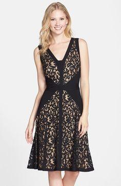 http://shop.nordstrom.com/s/tadashi-shoji-lace-jersey-fit-flare-dress-regular-petite/3889529?origin=category
