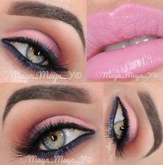 Colorful makeup @ maya_mia_y Pink Makeup, Glam Makeup, Colorful Makeup, Hair Makeup, Colourful Hair, Gorgeous Makeup, Love Makeup, Makeup Looks, Awesome Makeup
