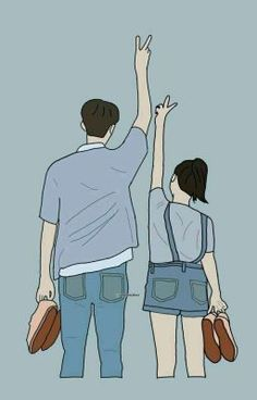 Cute Couple Drawings, Cute Couple Art, Anime Love Couple, Cute Couple Pictures, Cute Anime Couples, Cute Drawings, Chibi Couple, Couple Cartoon, Couple Illustration