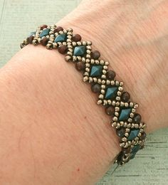 Linda's Crafty Inspirations: Bracelet of the Day: Liz Band - Montana & Maroon