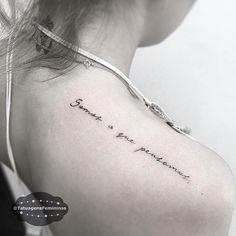 """""""Somos o que pensamos"""" • Tattoo Artist:  @rafa_tattooist . ℐnspiraçãoℐnspiration . . #tattoo #tattoos #tatuagem  #tatuaje #ink #tattooed #tattooedgirls #TatuagensFemininas"""