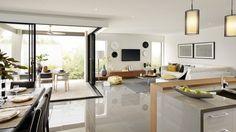 Casa de un piso moderna, dos fachadas y diseño interior | Construye Hogar