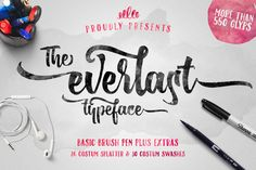 The Everlast Typeface + Extras by Albion Room on Creative Market