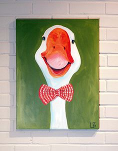 Duck Painting Original Art 18x24 Acrylic on Canvas by Logan Berard