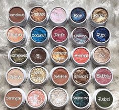 Colorpop eyeshadow~ I like Cornelius, Kathleenlights, rebel, strength, selfie, animal and glow especially but I love them all (5$ each)