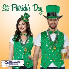 "Celebrate St. Patrick's Day in our festive  new ""Lucky Lady"" and Luck of the Irish"" costume kits from @CalCostumes  Contact us at 585-482-8780 for more information or check out select costumes and accessories on our website www.arlenescostumes.com including St. Patrick's Day garb!  #californiacostumes #stpatricksday #costume #lucky #irish #luckoftheirish #green"