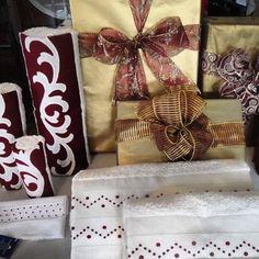 Bordado Madeira para o Natal!!  #bordal #christmaspresents #madeiraembroidery