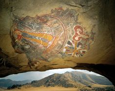Chumash cave painting