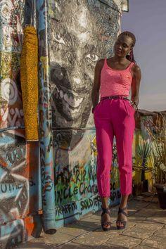 Pink trouser, coral top, lizmadowo.co.ke, style blogger