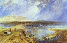 'Rye, Sussex', wasserfarbe von William Turner (1789-1862, United Kingdom)