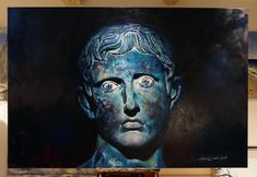 Oil on canvas, 180 x 120 cm. Get in touch to discuss a commision. Emperor Augustus, Denmark, Oil On Canvas, Illustration Art, Touch, Statue, Portrait, Artist, Painting