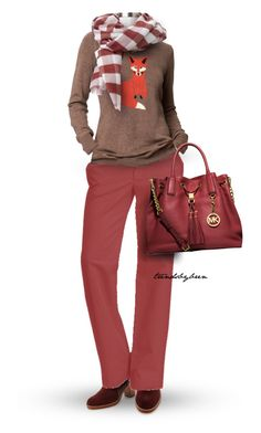 """Marsala"" by trendsbybren ❤ liked on Polyvore featuring Matt Bernson, Old Navy, Gap, Michael Kors and marsala"