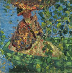 wonderingaboutitall: Through The Vines - Frederick Carl Frieseke