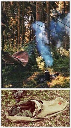 Wynnchester canvas bedroll - hammock & ground bivvy mode