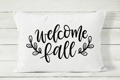 Welcome Fall pillow cover by Cozy Home Studio