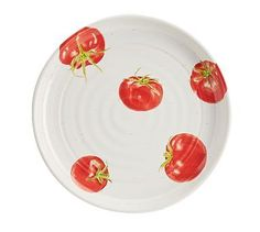 Rustic Tomato Plate, Set of 4
