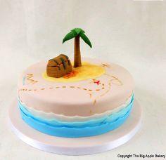 Gateau île au trésor #anniversaire #cakedesign