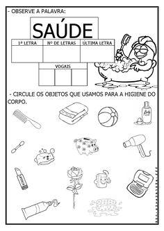 Resultado de imagem para atividades para educação infantil SOBRE O DIA DA SAUDE