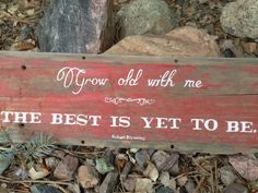 Reclaimed Wood Sign with Hand Painted Quote - word art