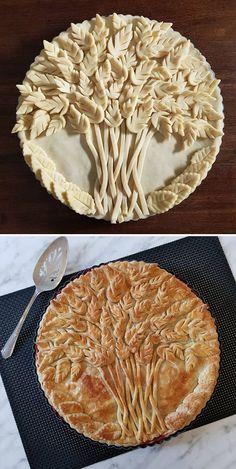 No Bake Pies, No Bake Cake, Beautiful Pie Crusts, Apple Pie Crust, Pie Crust Designs, Pie Decoration, Pies Art, Fun Cooking, Let Them Eat Cake