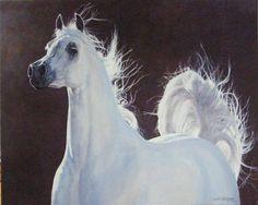 Equestrian Artist Judi Kent Pyrah Best British Horse Painter Born in Barnsley paintings of Hunting Scenes and Arab Horses Arabian Art Best Dog Portrait British UK