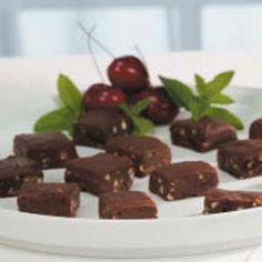 Photo: Almond Cherry Fudge   www.holidaycottagepage.com/almond-cherry-fudge-recipe/
